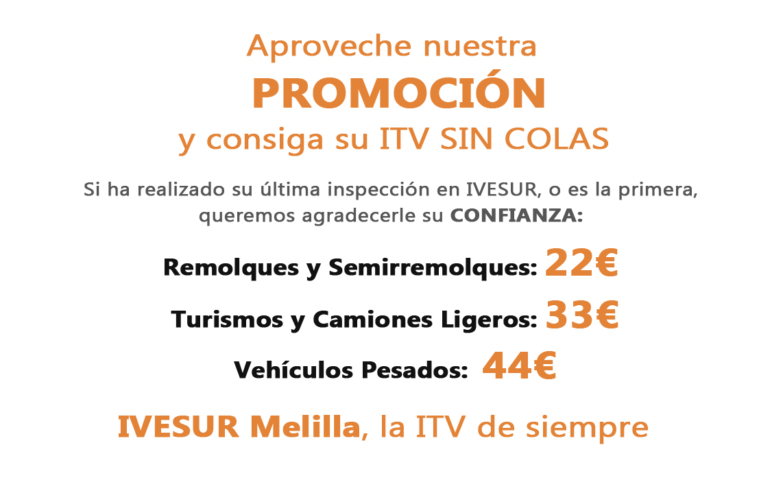 ITV Melilla Promoción Tarifas Ivesur